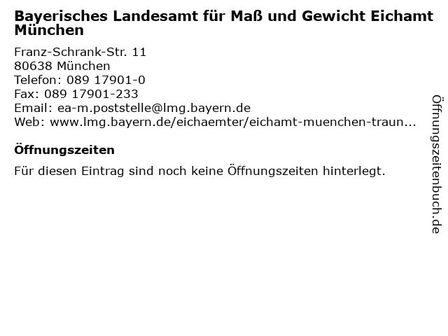ᐅ öffnungszeiten Eichamt München Traunstein Franz