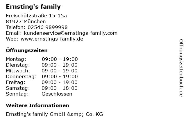 Ernsting's family in München: Adresse und Öffnungszeiten