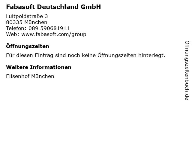 Fabasoft Deutschland GmbH in München: Adresse und Öffnungszeiten