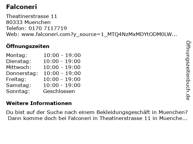 FALCONERI filati naturali in München: Adresse und Öffnungszeiten