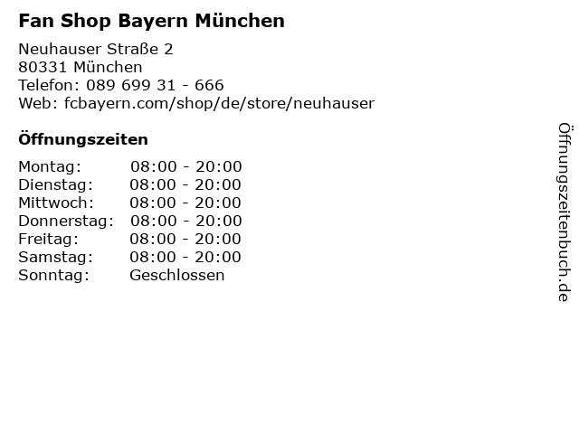 Fan Shop Bayern München in München: Adresse und Öffnungszeiten