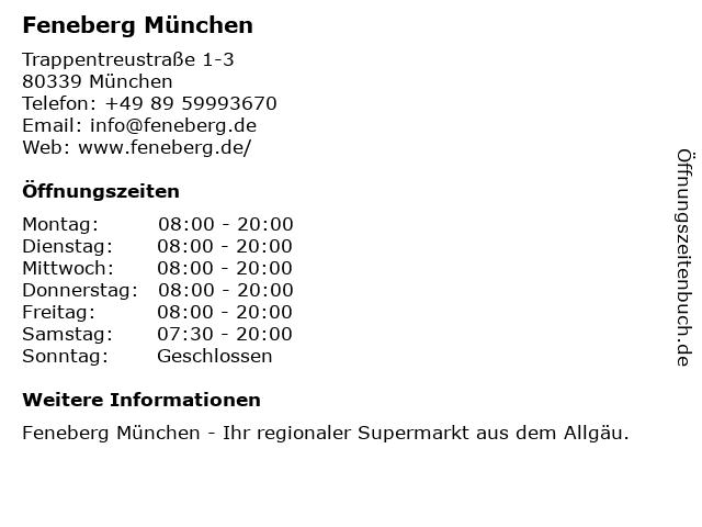 Feneberg in München: Adresse und Öffnungszeiten