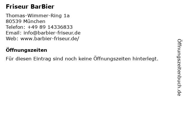 Friseur BarBier in München: Adresse und Öffnungszeiten