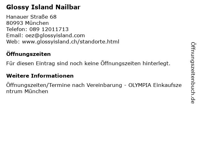 Glossy Island Nailbar in München: Adresse und Öffnungszeiten