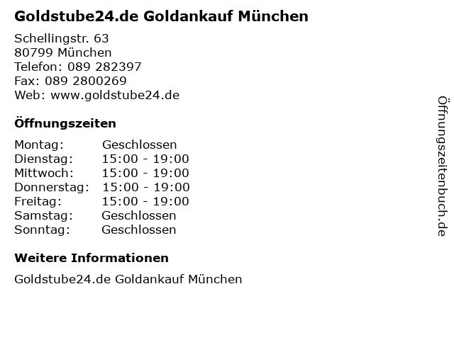 Goldstube24.de Goldankauf München in München: Adresse und Öffnungszeiten