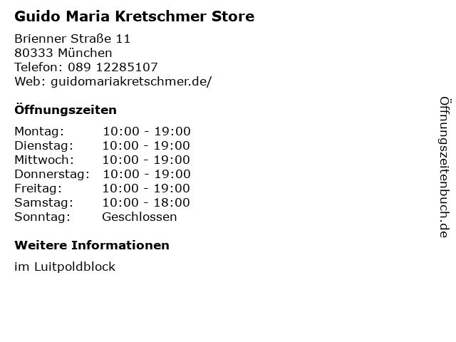 Guido Maria Kretschmer Store in München: Adresse und Öffnungszeiten