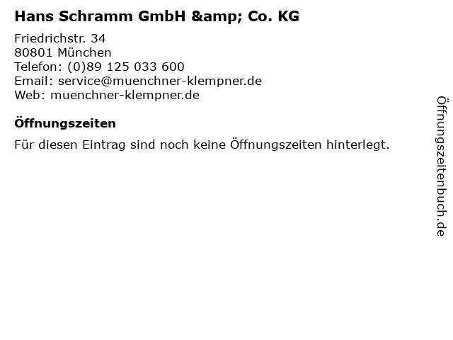 Hans Schramm GmbH & Co. KG in München: Adresse und Öffnungszeiten