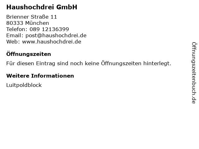 Haushochdrei GmbH in München: Adresse und Öffnungszeiten