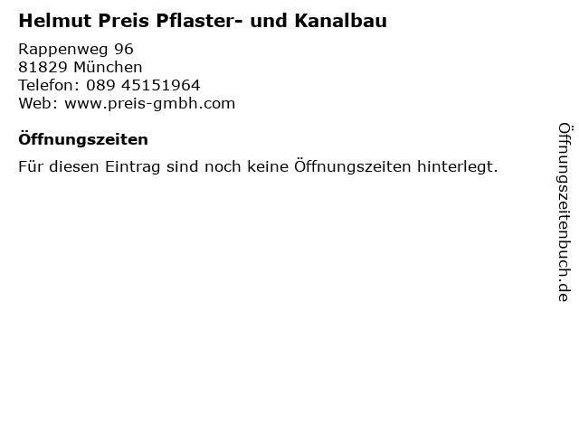 ᐅ öffnungszeiten Helmut Preis Pflaster Und Kanalbau Rappenweg
