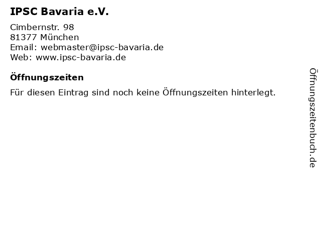 IPSC Bavaria e.V. in München: Adresse und Öffnungszeiten
