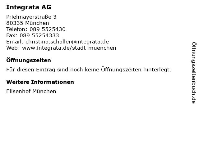 Integrata AG in München: Adresse und Öffnungszeiten