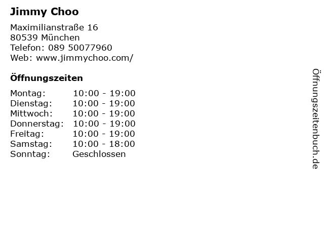 Jimmy Choo in München: Adresse und Öffnungszeiten