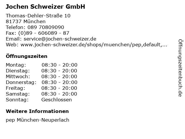Jochen Schweizer GmbH in München: Adresse und Öffnungszeiten