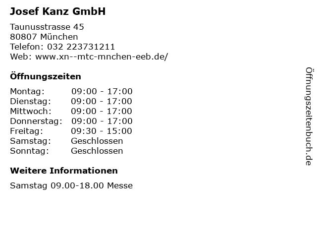 Josef Kanz GmbH in München: Adresse und Öffnungszeiten