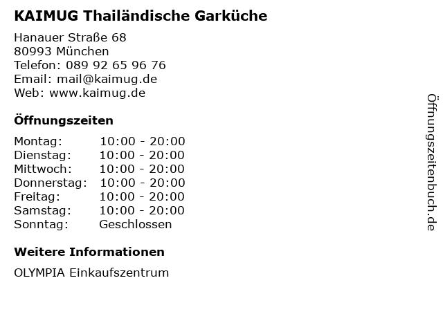 KAIMUG Thailändische Garküche in München: Adresse und Öffnungszeiten