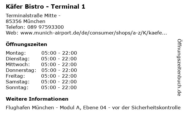 Käfer Bistro - Terminal 1 in München: Adresse und Öffnungszeiten