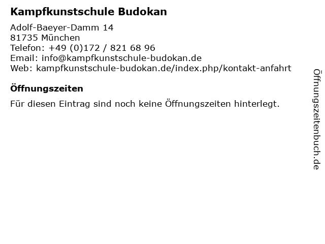 Kampfkunstschule Budokan in München: Adresse und Öffnungszeiten