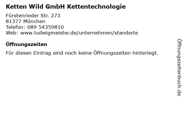 Ketten Wild GmbH Kettentechnologie in München: Adresse und Öffnungszeiten