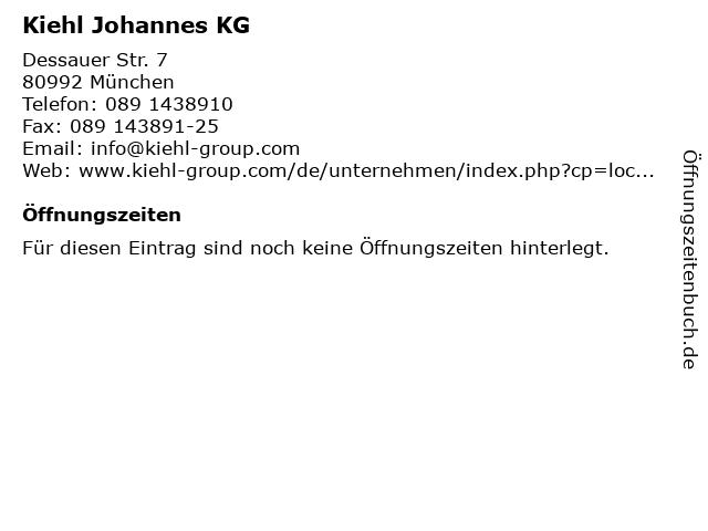 Kiehl Johannes KG in München: Adresse und Öffnungszeiten