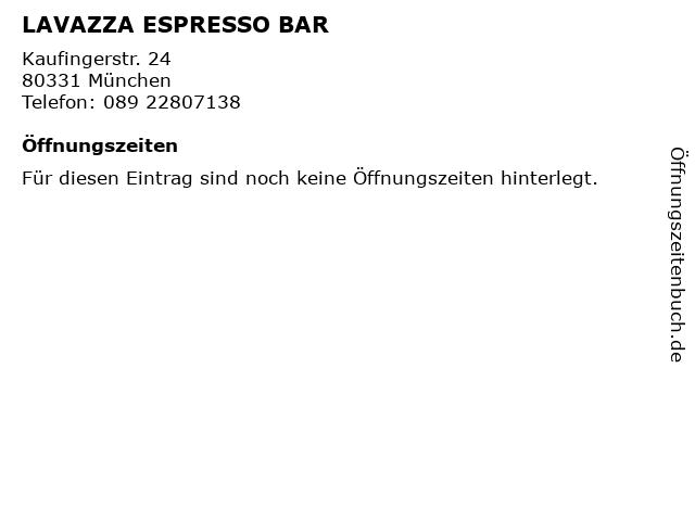 LAVAZZA ESPRESSO BAR in München: Adresse und Öffnungszeiten