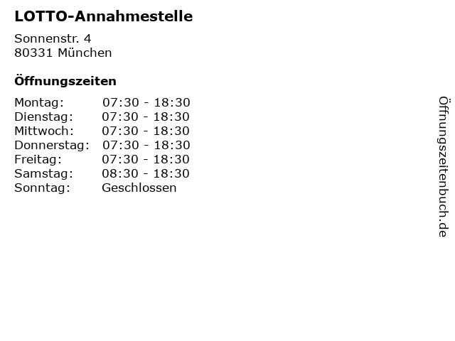 LOTTO-Annahmestelle in München: Adresse und Öffnungszeiten