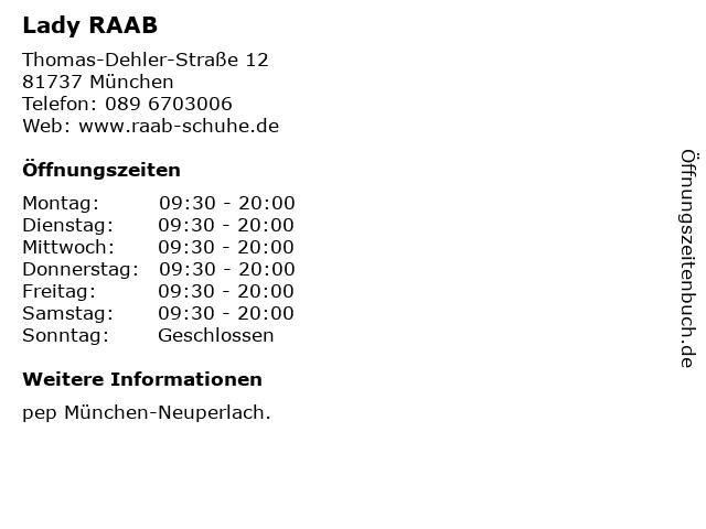 Lady RAAB in München: Adresse und Öffnungszeiten