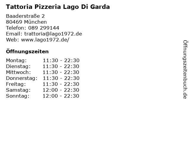 Lago di Garda in München: Adresse und Öffnungszeiten