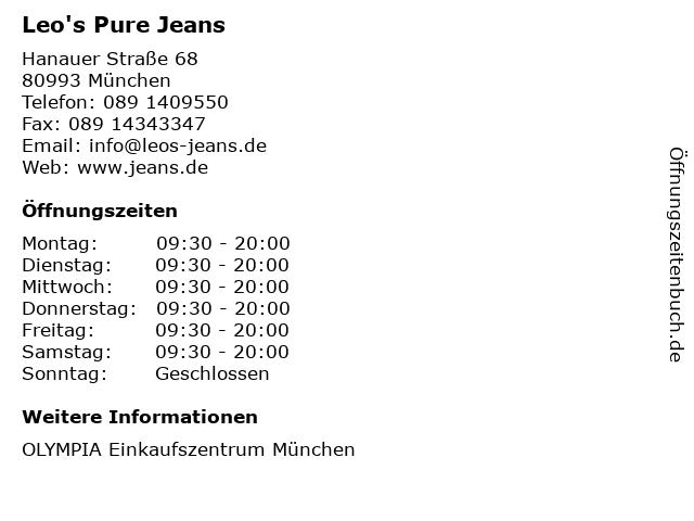 Leo's Pure Jeans in München: Adresse und Öffnungszeiten