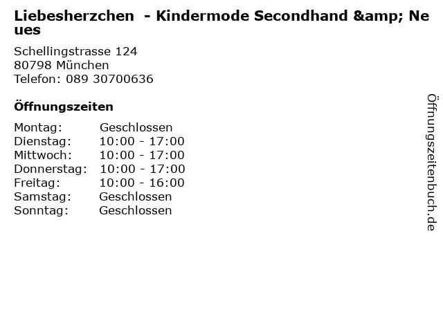 Liebesherzchen  - Kindermode Secondhand & Neues in München: Adresse und Öffnungszeiten