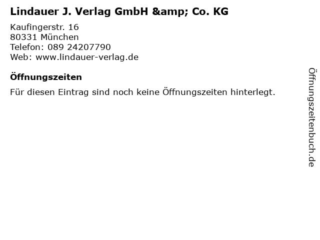 Lindauer J. Verlag GmbH & Co. KG in München: Adresse und Öffnungszeiten