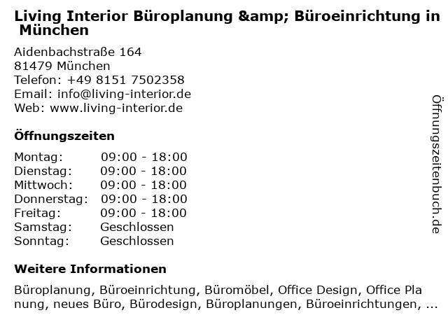 ᐅ öffnungszeiten Living Interior Büroplanung Büroeinrichtung In