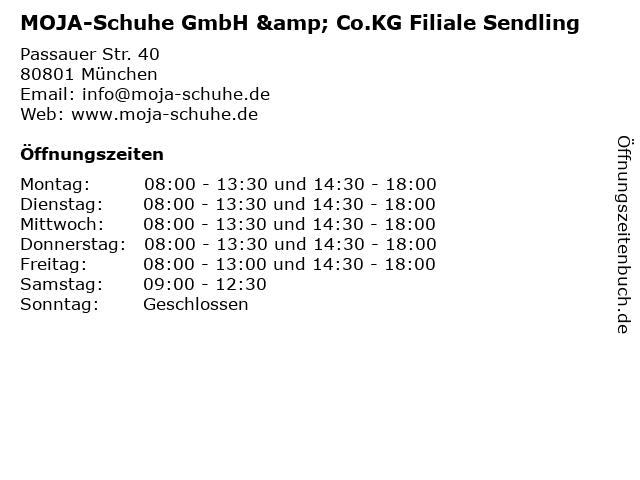 MOJA-Schuhe GmbH & Co.KG Filiale Sendling in München: Adresse und Öffnungszeiten