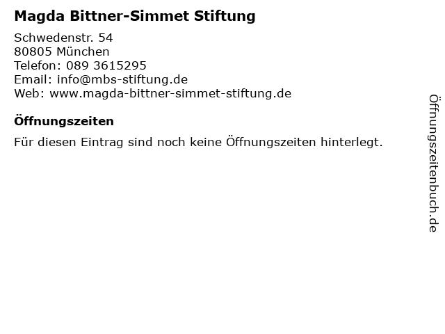 Magda Bittner-Simmet Stiftung in München: Adresse und Öffnungszeiten