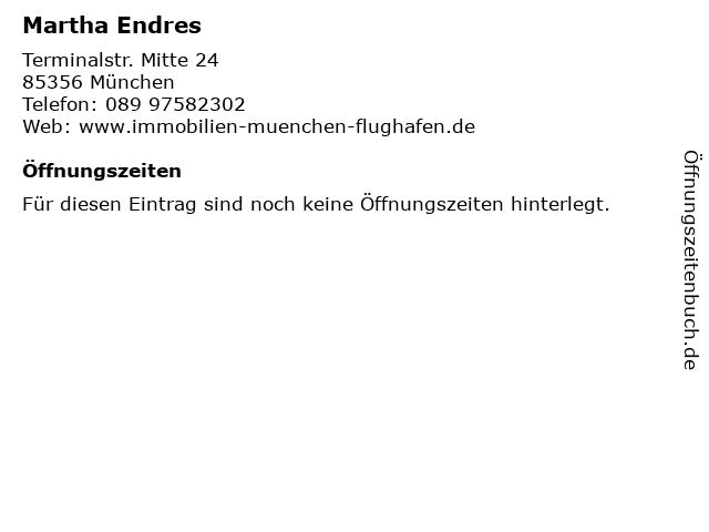 Martha Endres in München: Adresse und Öffnungszeiten