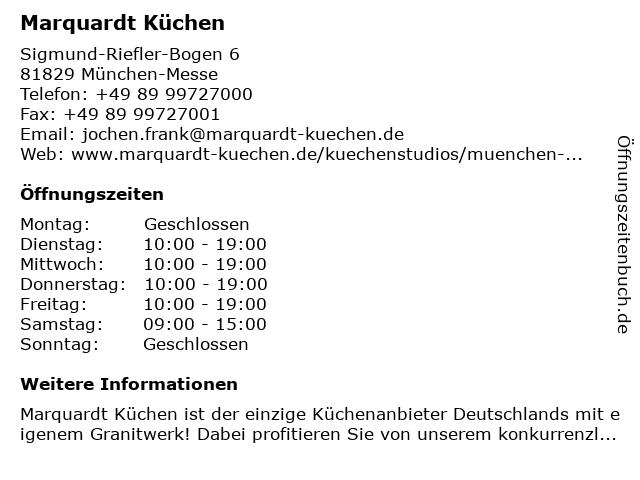 ᐅ Offnungszeiten Marquardt Kuchen Sigmund Riefler Bogen 6 In