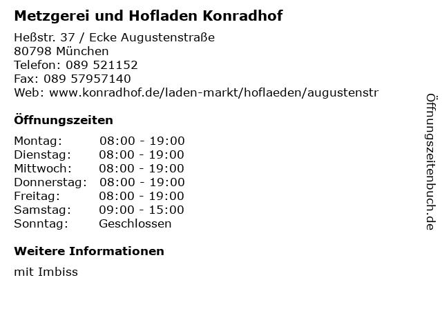 Metzgerei und Hofladen Konradhof in München: Adresse und Öffnungszeiten