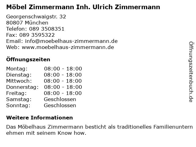 ᐅ öffnungszeiten Möbel Zimmermann Ek Möbelgeschäft