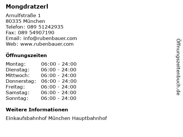 Mongdratzerl in München: Adresse und Öffnungszeiten