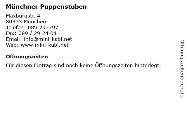 Münchner Puppenstuben in München: Adresse und Öffnungszeiten
