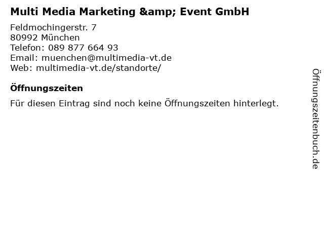 Multi Media Marketing & Event GmbH in München: Adresse und Öffnungszeiten