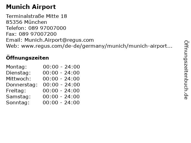 Munich Airport in München: Adresse und Öffnungszeiten