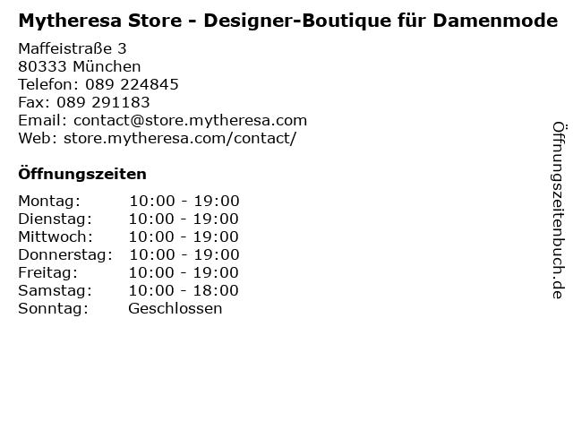 Mytheresa Store - Designer-Boutique für Damenmode in München: Adresse und Öffnungszeiten