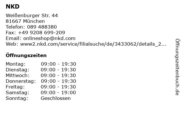 NKD in München: Adresse und Öffnungszeiten