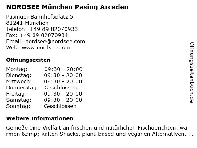 NORDSEE München Pasing Arcaden in München: Adresse und Öffnungszeiten