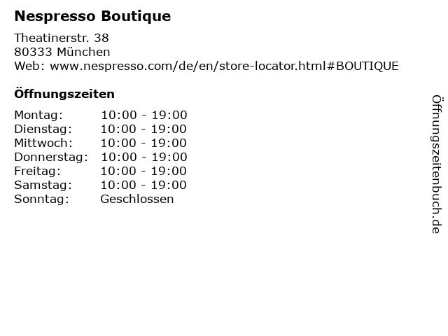Nespresso Boutique in München: Adresse und Öffnungszeiten