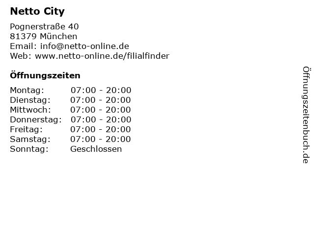 Netto City Filiale in München: Adresse und Öffnungszeiten