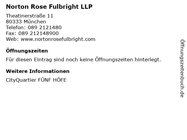 Norton Rose Fulbright LLP in München: Adresse und Öffnungszeiten