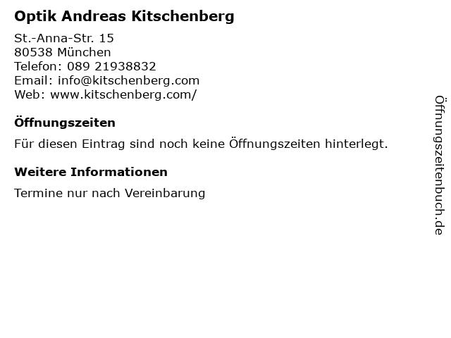 Optik Andreas Kitschenberg in München: Adresse und Öffnungszeiten