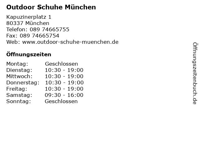 Outdoor Schuhe München in München: Adresse und Öffnungszeiten