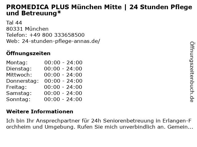 PROMEDICA PLUS München-Mitte in München: Adresse und Öffnungszeiten